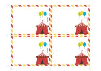 Invitaciones de cumpleaños imprimibles - Investigación en el circo